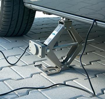 Lescars Elektrischer Wagenheber, 12 V, 750 kg Hubkraft, für Autos bis 2 t -
