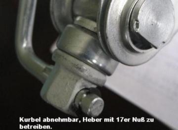 Scherenwagenheber 1500 kg Minimalhöhe 95 mm TÜV/GS mit 17er Nuß-Anschluß -
