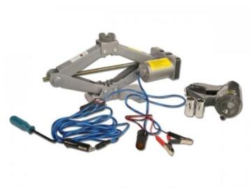Wagenheber elektrisch 12V inkl. Schlagschrauber Hubhöhe 14-43 cm -